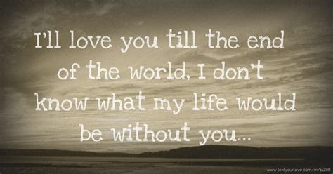 Ill Love You Till The End Quotes