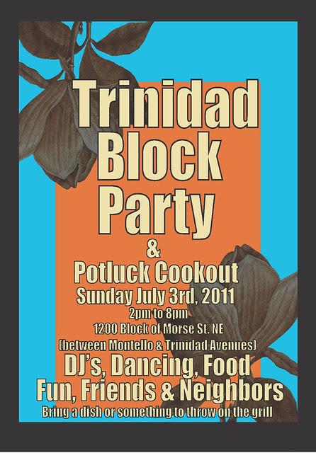 Trinidad Block Party Flyer (07-03-11)