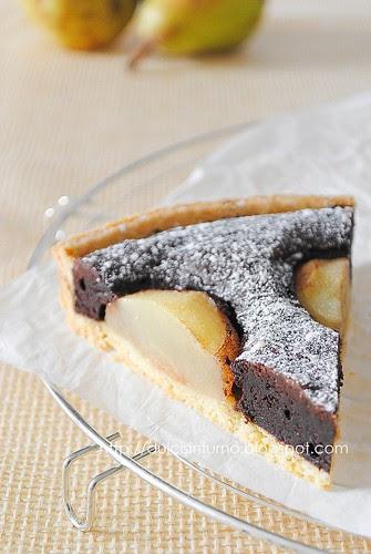 Crostata al Ciocolato e Pere-Chocolate and Pear Tart