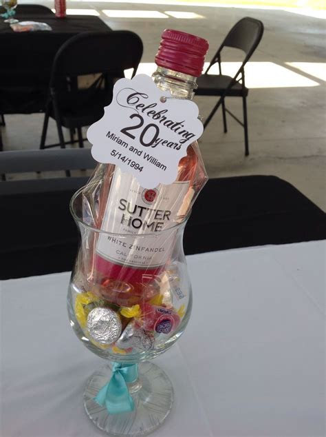 Party favors, 20th anniversary, wedding anniversary