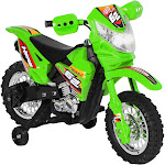 Best Choice Products 6V Electric Kids Ride on Motorcycle Dirt Bike w/ Training Wheels - Green