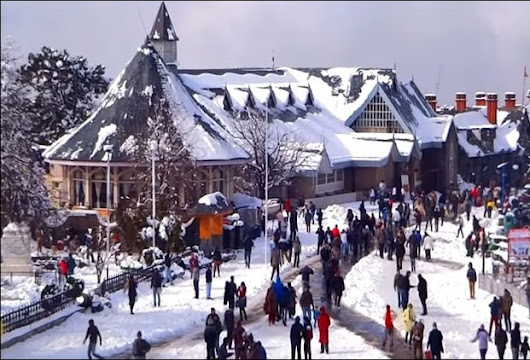 Shimla's famous attractions after snowfall in December !