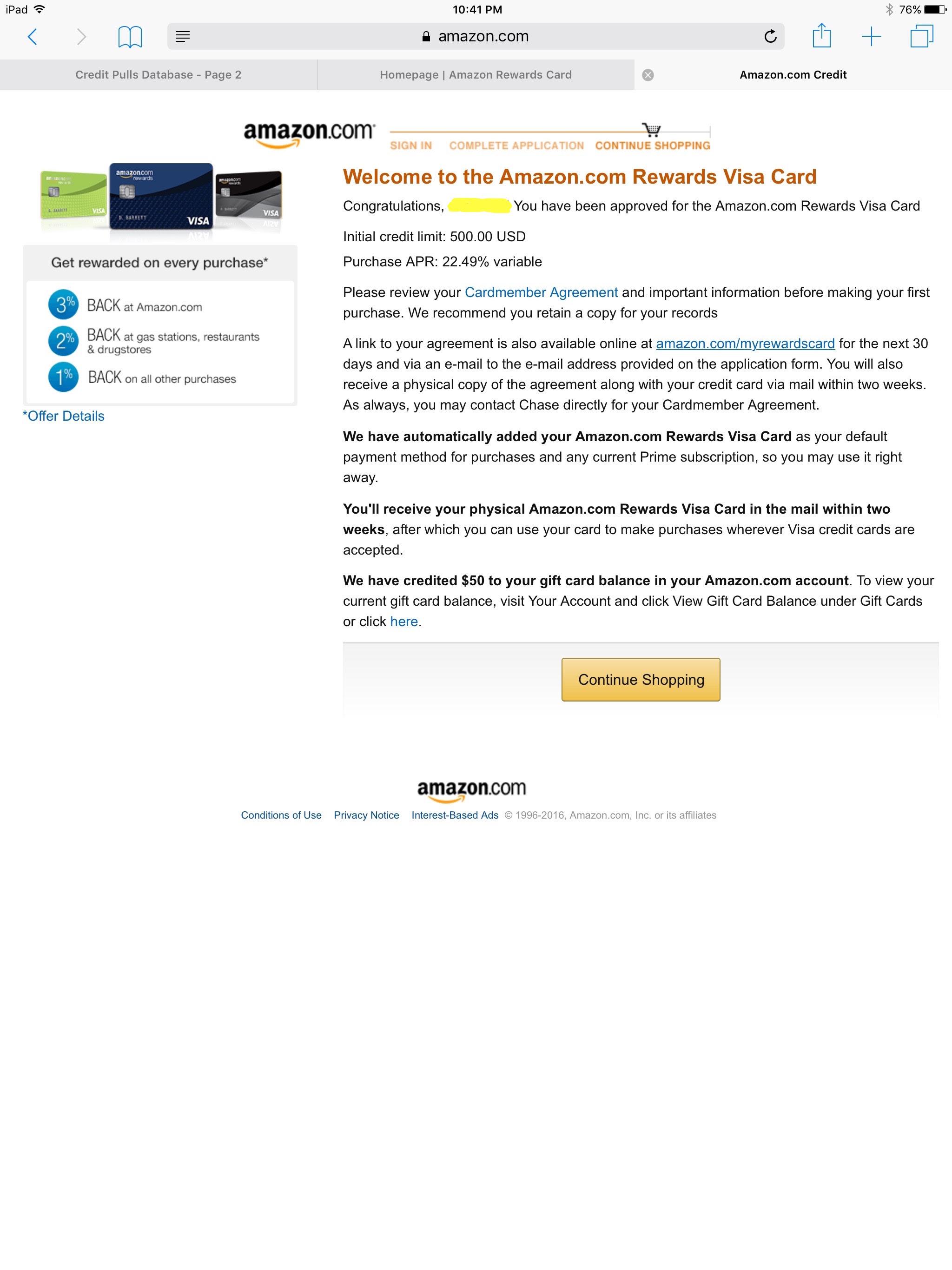 Chase Amazon!!! - myFICO® Forums - 8