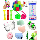 Fi-gent Sensory Fidget Toys Bundle-DNA Stress Relief Balls with Fidget Hand Toys for Anxiety Kids & Adults-Calming Toys for ADHD Autism Anxiety
