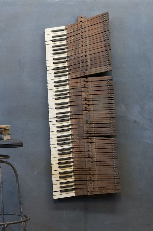 when our piano dies, it can live again as wall art