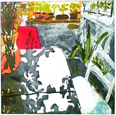 intaglio with photopolymer film, 30 x 30 cm, 2001