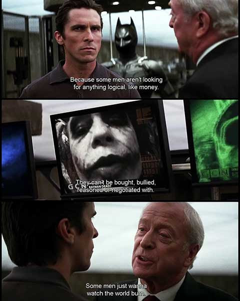 The Dark Knight Movie Quotes Escapematter