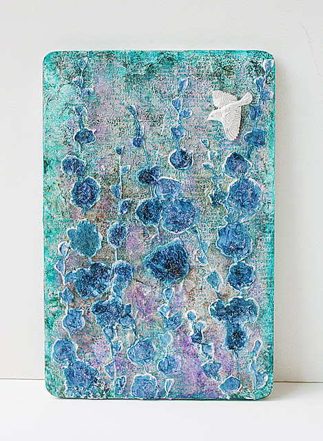 Mixed-media-wood-panel