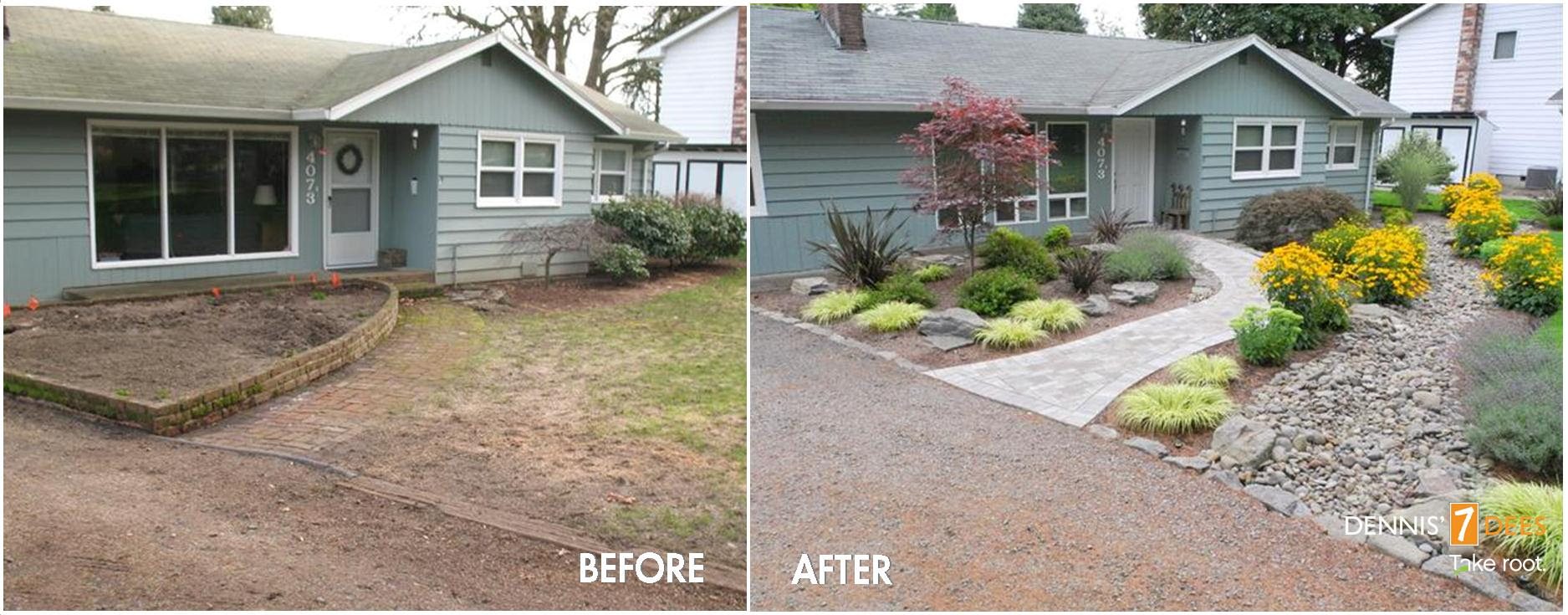 Landscaping Ideas Front Yard Pictures Before And After