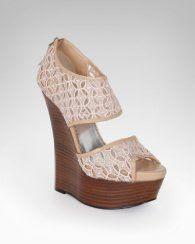 Bebe Celia Crochet Wedge Sandal