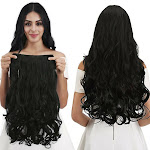"""Reecho 20"""" 1-Pack 3/4 Full Head Curly Wave Clips in on Synthetic Hair Extensions"""