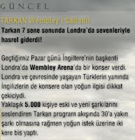 Tarkan's official site reports on the concert