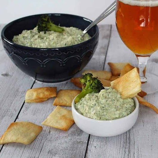 Roasted Broccoli Artichoke Dip #SundaySupper | Cooking Chat