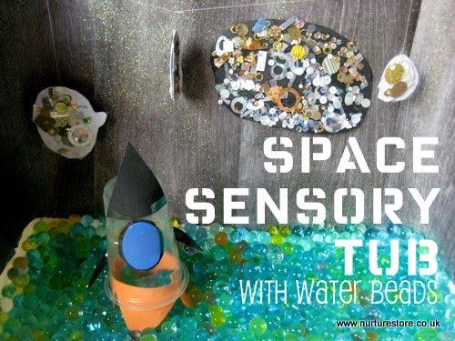 space play sensory tub