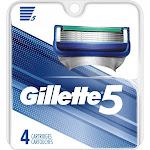 Gillette5 Men's Razor Blade Refills - 4 count