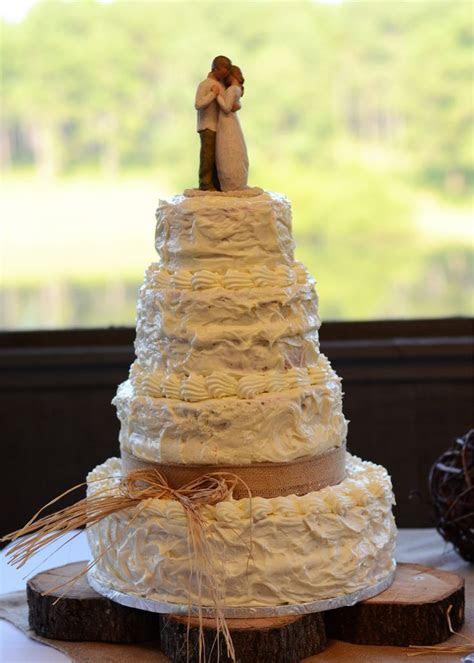 My wedding cake. Simple. Red Velvet with cream cheese