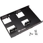 "CORSAIR - Dual SATA Drive Enclosure for 2.5"" Solid-State Drives - Black"