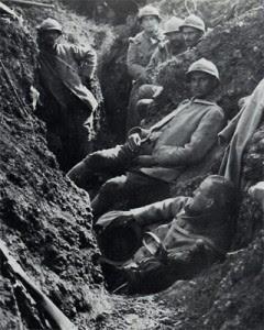 Poilus à Verdun