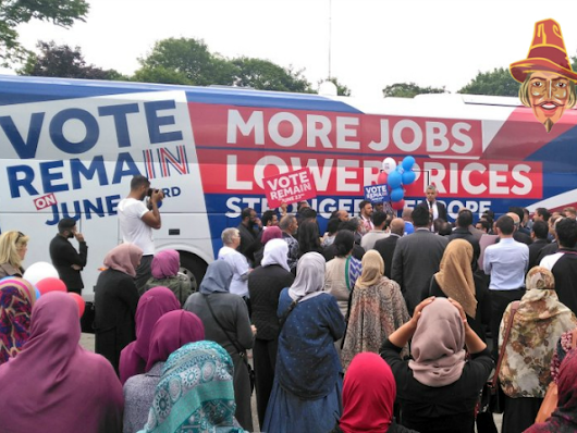 London's Muslim Mayor Hosts EU 'Remain' Rally With Hijab-Clad Women Forced To Stand At The Back