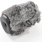 Movo WS-G100 Furry Rigid Windscreen for Microphones 18-23mm in Diameter and Up to 3.9 inch (10cm) Long - Dark Gray