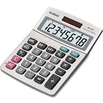 Casio MS-80S Desktop Calculator - 8 Digits - Silver Metallic
