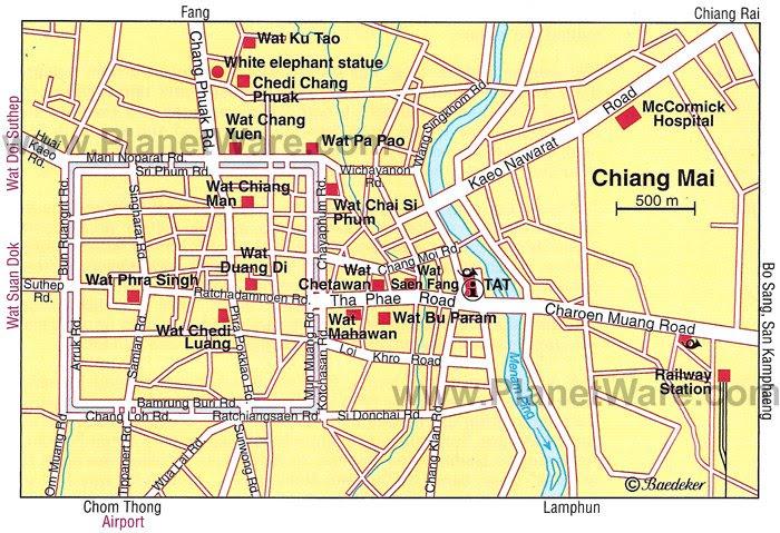 Resultado de imagen de chiang mai map