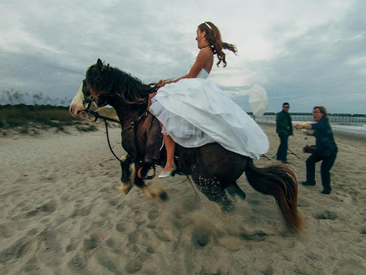 Bride Thrown from Horse During Photo Shoot