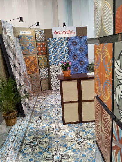 Aguayo Cement Tile Booth #19002 at Coverings 2014