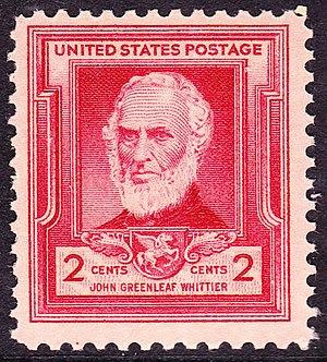 English: US Postage stamp, John Greenleaf Whit...