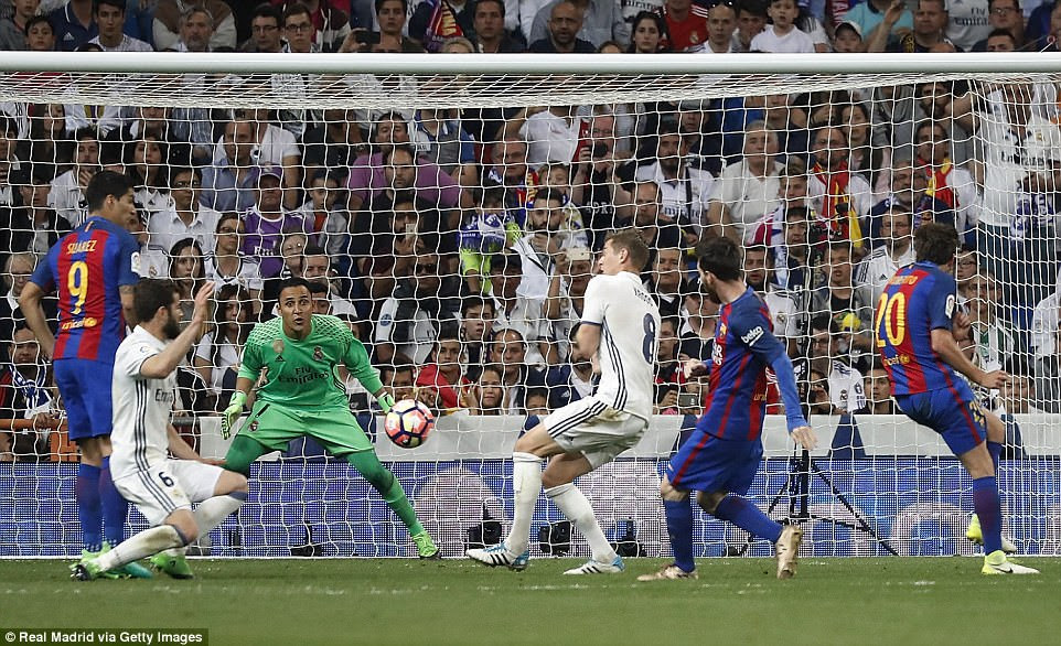 Jordi Alba's pull-back from the left was stroked with aplomb into the bottom corner by Messi in the dying seconds of the game