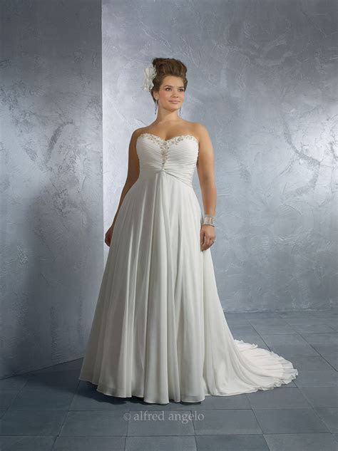Alfred Angelo Plus Size Wedding Dresses   Style 2171W