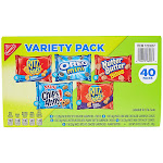 Nabisco Cookie & Cracker, Variety Pack, 1 oz, 40-count