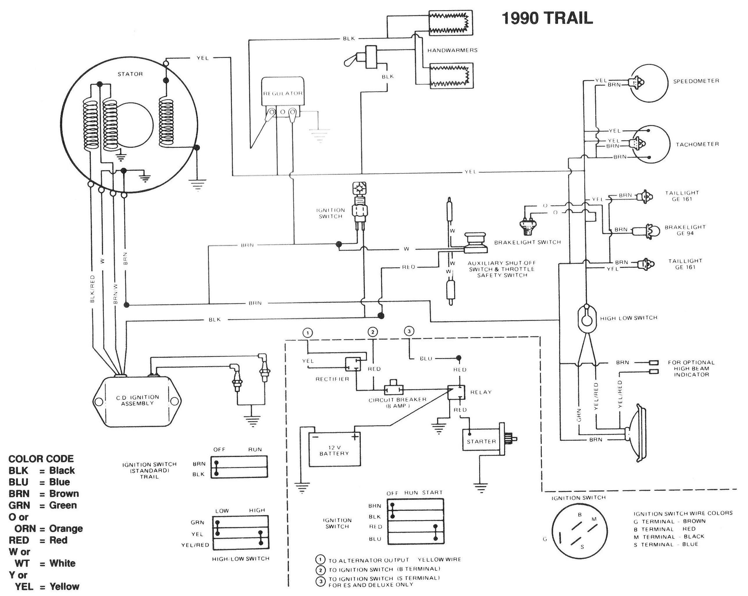 2004 Polaris Trailblazer 250 Wiring Diagram