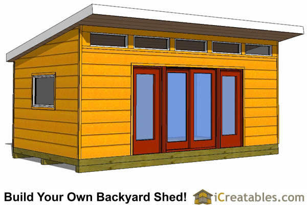 12x20 S1 studio shed front