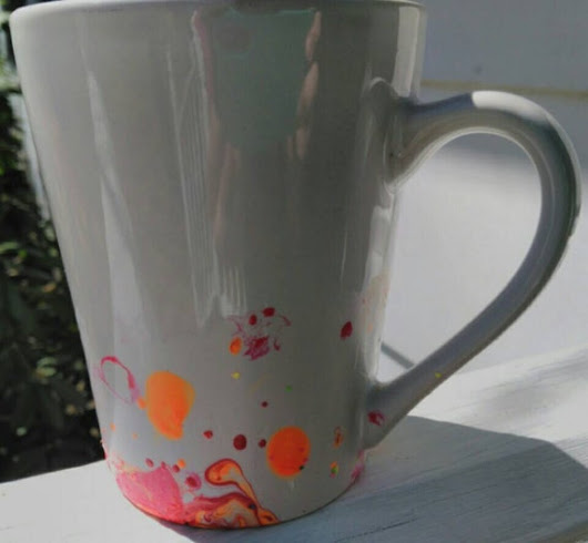Hand dipped 14oz Coffee/Tea Mug by BelovedBearsDen on Etsy