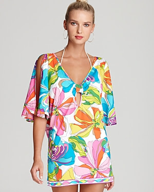 Spring Floral Fashion - Trina Turk Kaleidoscope Floral Cover-Up Tunic