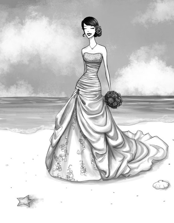 Custom wedding dress drawings wedding Il 570xN206324407