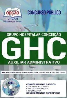 Apostila Concurso GHC 2018 | AUXILIAR ADMINISTRATIVO