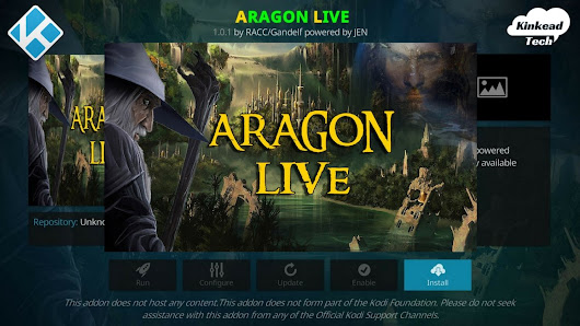 Aragon Live is the Best Live TV Streaming Kodi Add-on