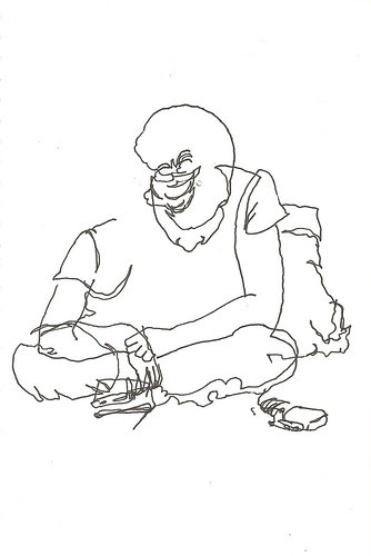 Blind Contour Drawing - Manu Reading