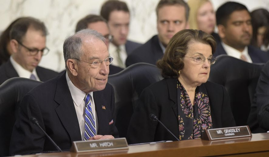 "Senate Judiciary Committee Chairman Sen. Charles Grassley, Iowa Republican, says that Senate Democrats don't currently have any leverage.  ""I don't think they're in a position to make a deal,"" Mr. Grassley said. (AP Photo/Susan Walsh)"