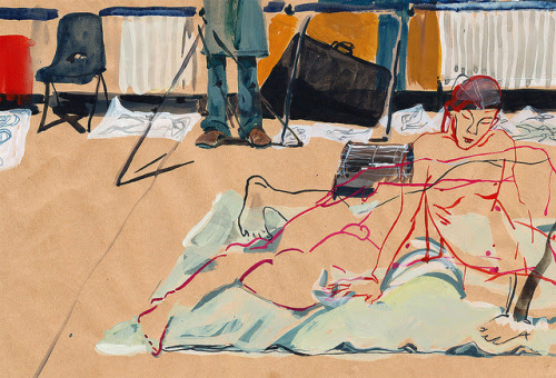 bblacha:  Life-Drawing by Nicola Rowsell Sketchbooks & Personal Work on Flickr. Drawing Tom as he changed positions