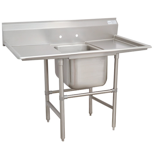 Advance Tabco 94-1-24-18RL Spec Line One Compartment Pot Sink with Two Drainboards - 54""