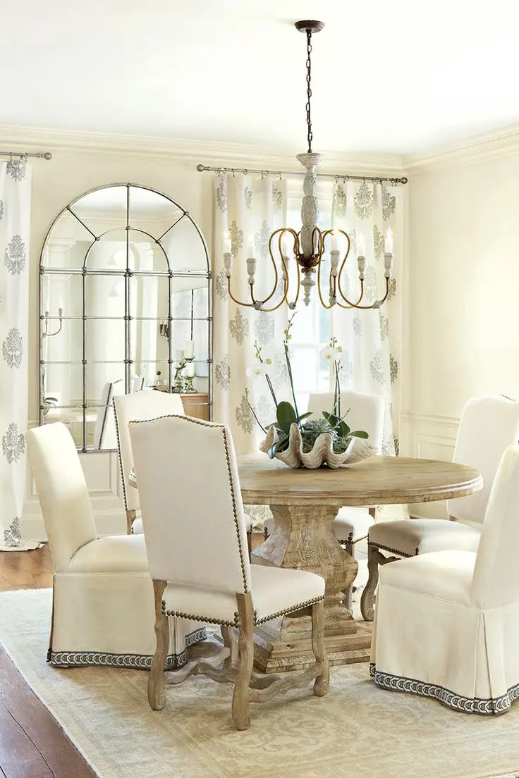 25 Beautiful Neutral Dining Room Designs | DigsDigs