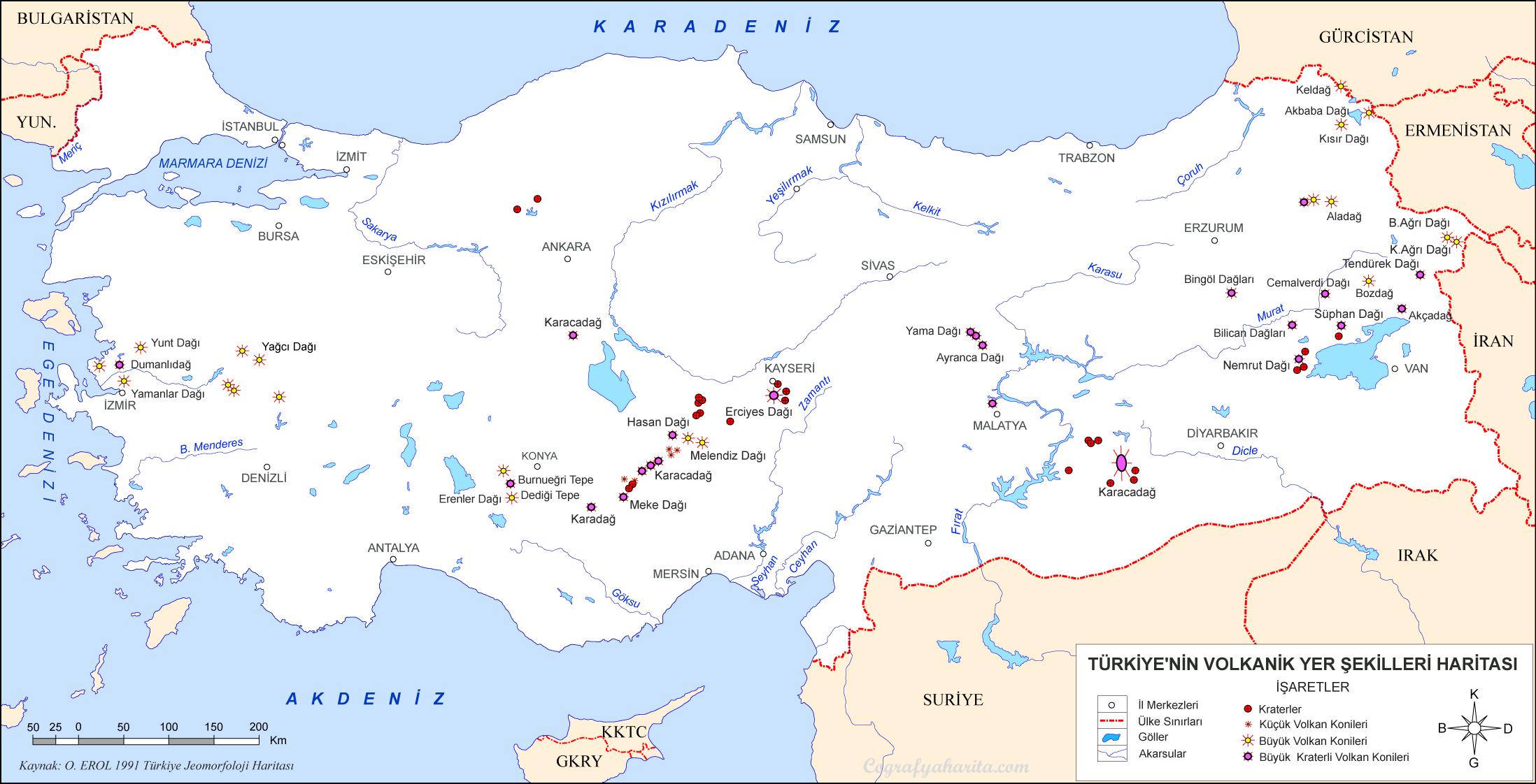 Türkiye Yer şekilleri Haritaları