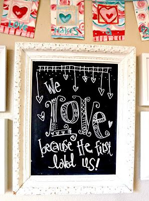 Art by Erin Leigh: DIY Mixed Media Valentine's Day Banner