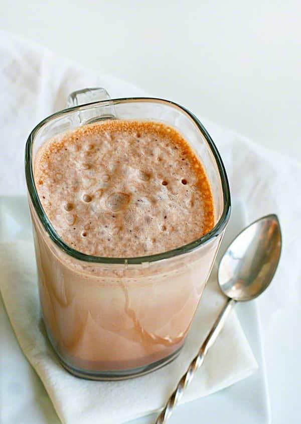 Homemade Chocolate Milk! ~ Four Easy Ingredients by iambaker.net