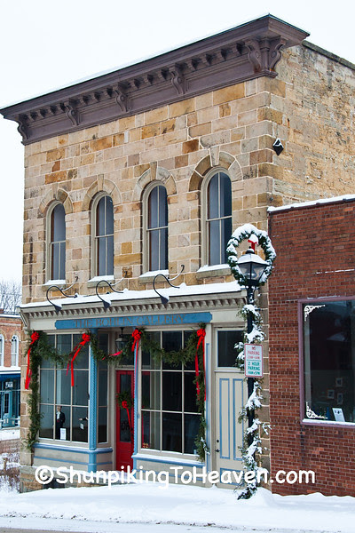 Christmas on High Street, Mineral Point, Wisconsin