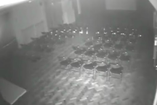 Ghostly drama: CCTV reveals chair moving by itself in Essex theatre