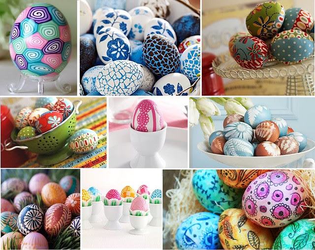 Colored Eggs Inspiration Mosiac -- photos from pinterest